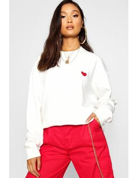 Sweat Oversize Brodé by Boohoo