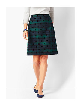Black Watch Plaid A Line Skirt by Talbots