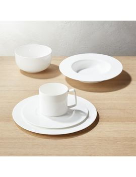 Eclipse White Dinnerware by Crate&Barrel
