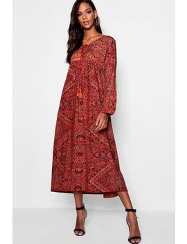 Tall Paisley Print Maxi Dress by Boohoo