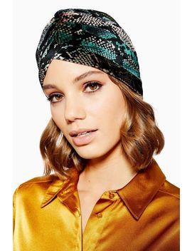 Velvet Snake Turban by Topshop
