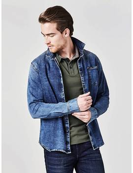 Denim Shirt With Pocket by Guess