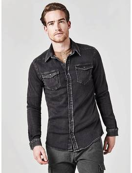 Slim Fit Denim Shirt by Guess