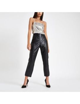 Silver Sequin Cami Top by River Island