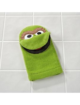 Sesame Street Oscar The Grouch Bath Mitt by Crate&Barrel