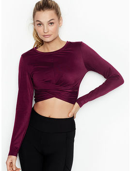 Long Sleeve Wrap Crop by Victoria's Secret