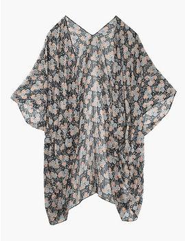 Floral Chiffon Kimono by Lucky Brand