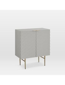 Audrey Small Cabinet, Mist Gray by West Elm