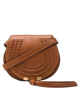 Marcie Braid Mini Satchel Caramel Brown Leather Cross Body Bag by Chloé
