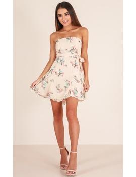 Go My Own Way Dress In Beige Floral by Showpo Fashion