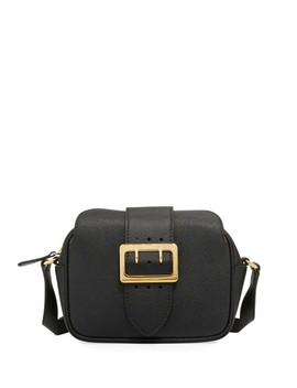 Small Buckle Black Leather Cross Body Bag by Burberry