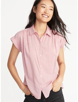 Relaxed Cap Sleeve Shirt For Women by Old Navy