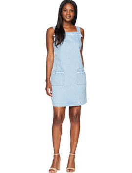 Sleeveless Frayed Edge Two Pocket Classic Denim Dress by Two By Vince Camuto