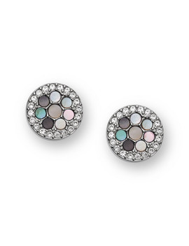 Vintage Glitz Crystal Studs by Fossil