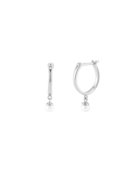 Pearl Hoops   C$77 by Mejuri