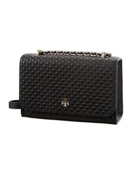 New Quilted Purse Black Leather Cross Body Bag by Tory Burch