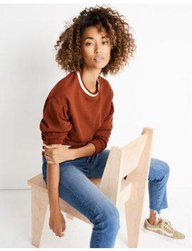 Varsity Stripe Pleat Sleeve Sweatshirt by Madewell
