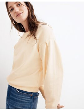 Pleat Sleeve Sweatshirt by Madewell