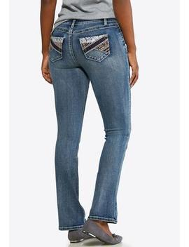 Petite Colorful Embellished Pocket Jeans by Cato