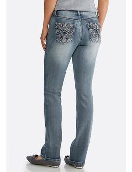 Petite Faded Embellished Jeans by Cato
