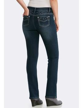 Petite Rhinestone Embellished Jeans by Cato