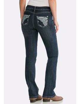 Petite Wing Pocket Bootcut Jeans by Cato