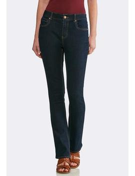 Petite Dark Bootcut Jeans by Cato