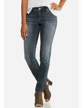 Petite Crosshatch Skinny Jeans by Cato