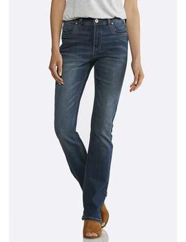 Petite Dark Shape Enhancing Bootcut Jeans by Cato