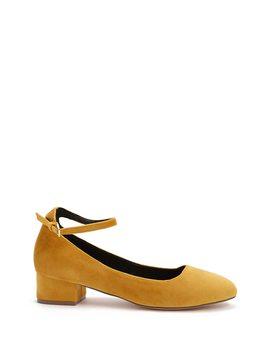Velvet Ankle Strap Heels by Forever 21