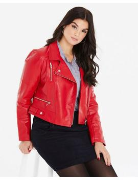 Oasis Curve Faux Leather Biker by Simply Be