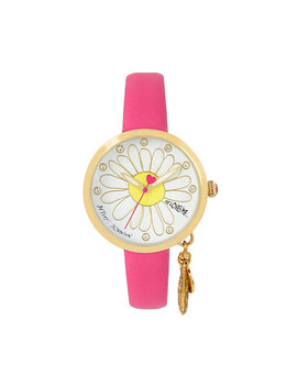 He Loves Me Dangle Pink Watch by Betsey Johnson