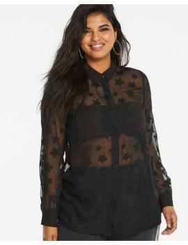 Burnout Star Blouse by Simply Be
