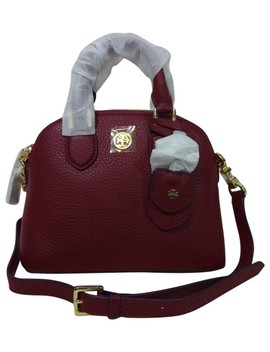 Robinson Mini Dome Red Pebbled Leather Cross Body Bag by Tory Burch