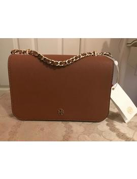Emerson Adjustable Shoulder #47385 Brown Saffiano Leather Cross Body Bag by Tory Burch