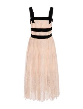 Velvet Trimmed Lace Dress by Philosophy Di Lorenzo Serafini