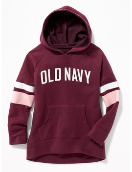 Logo Graphic Pullover Hoodie For Girls by Old Navy