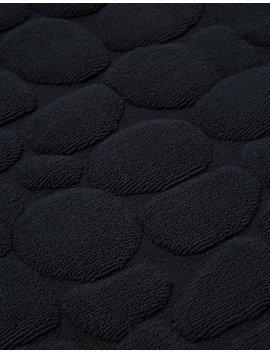 Ishikoro Pebble Stone Bath Mat In Black by Morihata