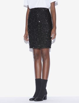 Sequin Studded Pencil Skirt by Armani Exchange