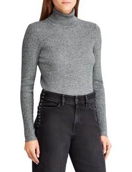 Marled Knit Turtleneck Sweater by Lauren Ralph Lauren
