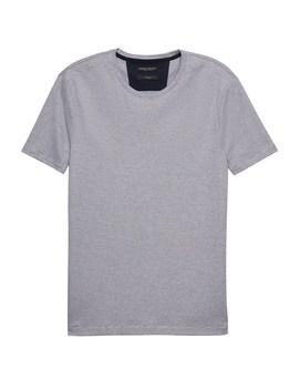 Luxury Touch Mini Stripe Crew Neck T Shirt by Banana Repbulic