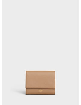 Small Trifold Wallet In Grained Calfskin by Celine