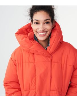 Solid Oversized Puffer Jacket by Aeropostale