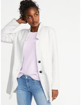 Soft Brushed Button Front Coat For Women by Old Navy