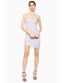 Lace Trim Dress by Topshop