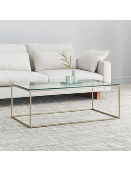 Streamline Coffee Table   Glass by West Elm