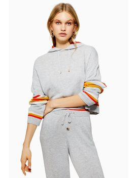 Stripe Hoodie With Cashmere by Topshop