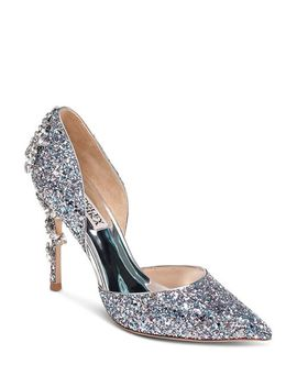 Women's Vogue Iii Crystal Embellished D'orsay Pumps   100 Percents Exclusive by Badgley Mischka