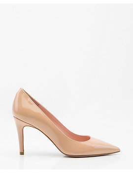 Italian Made Patent Leather Pointy Toe Pump by Le Chateau
