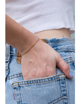 Gold Chain Bracelet by Brandy Melville